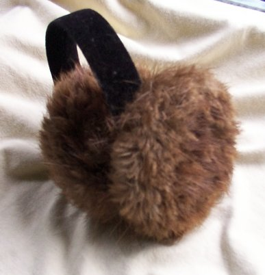 long hair beaver earmuff